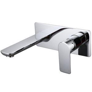 壁付水栓 バス蛇口 洗面水栓 冷熱混合栓 手洗い器蛇口 水栓金具 水道蛇口 クロム&黒色