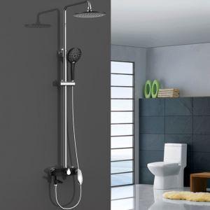 浴室シャワー水栓 レインシャワーシステム バス水栓 ヘッドシャワー ハンドシャワー クロム&黒色