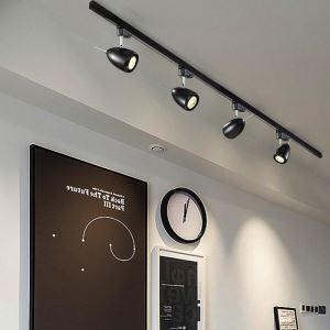 スポットライト ダクトレール用照明 照明器具 玄関照明 店舗照明 黒白色 簡単取付 1灯