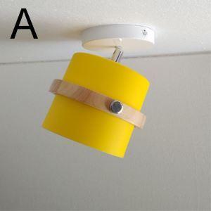 スポットライト シーリングライト 照明器具 玄関照明 子供屋照明 店舗照明 回転可能 マカロン色 1灯