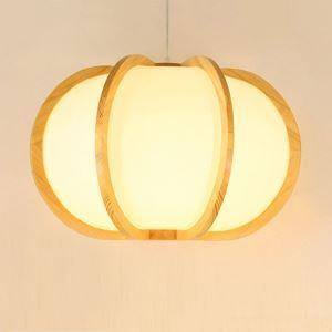 ペンダントライト 照明器具 リビング照明 店舗照明 天井照明 ダイニング 寝室 和室和風 木目調 カボチャ型 1灯 JPL320
