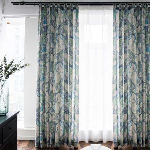 遮光カーテン オーダーカーテン 子供屋 オシャレ 果物柄 緑色 捺染 3級遮熱カーテン(1枚)