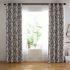 遮光カーテン オーダーカーテン リビング 寝室 北欧風 葉柄 捺染 1級遮熱カーテン(1枚)