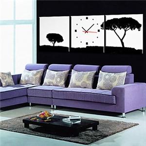 壁掛け時計 壁絵画時計 静音時計 壁飾り オシャレ 3枚パネル K0148