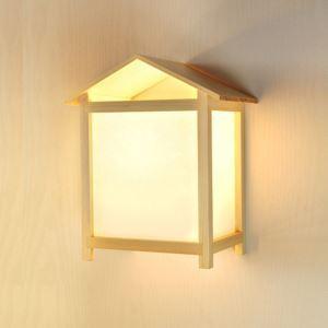 壁掛け照明 ウォールランプ ブラケット 間接照明 玄関照明 和室和風 竹木 ハウス型 1灯 B201