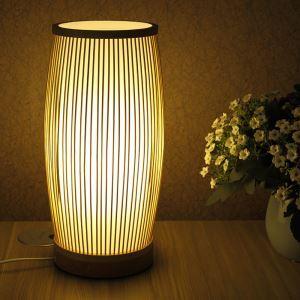 テーブルランプ スタンドライト 間接照明 卓上照明 デスクライト リビング 寝室 竹 手作り編み 和風 1灯 GYT