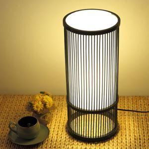 テーブルランプ スタンドライト 間接照明 卓上照明 デスクライト リビング 寝室 竹 手作り編み 和風 1灯 T0050