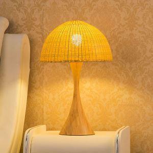 テーブルランプ スタンドライト 間接照明 卓上照明 デスクライト リビング 寝室 竹 手作り編み 和風 1灯 GYT0006