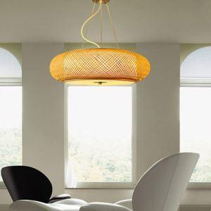 ペンダントライト 照明器具 リビング照明 店舗照明 天井照明 ダイニング 寝室 和室和風 竹 手作り編み X03