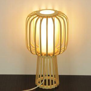 テーブルランプ スタンドライト 間接照明 卓上照明 デスクライト リビング 寝室 竹 手作り編み 和風 1灯 T0036
