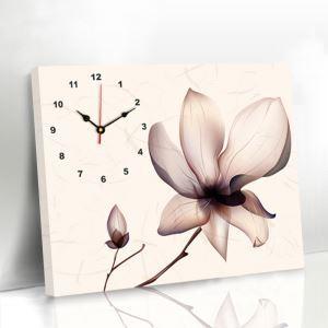 壁掛け時計 壁絵画時計 静音時計 キャンバス時計 壁飾り オシャレ 1枚パネル 蓮花