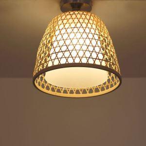 シーリングライト 照明器具 リビング照明 店舗照明 寝室照明 ダイニング 和室和風 竹木 手作り編み 1灯 M7