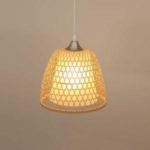 ペンダントライト 照明器具 リビング照明 店舗照明 天井照明 ダイニング 寝室 和室和風 竹木 手作り編み 1灯 M7