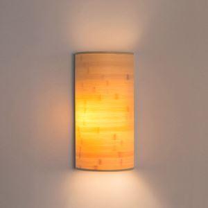 壁掛け照明 ウォールランプ ブラケット 間接照明 玄関照明 和室和風 竹木 半円 2灯 B07