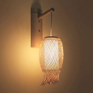 壁掛け照明 ウォールランプ ブラケット 間接照明 玄関照明 和室和風 竹木 1灯 B小鱼