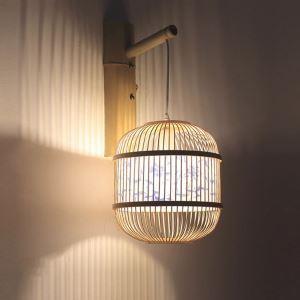 壁掛け照明 ウォールランプ ブラケット 間接照明 玄関照明 和室和風 竹木 1灯 B0077