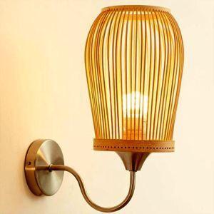 壁掛け照明 ウォールランプ ブラケット 間接照明 玄関照明 和室和風 竹木 1灯 GYB0005