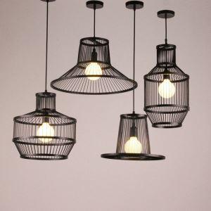 ペンダントライト 照明器具 リビング照明 店舗照明 ダイニング照明 玄関 寝室 和室和風 竹木 1灯 幾何型 黒色
