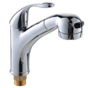 洗面蛇口 スプレー混合栓 洗髪用水栓 ホース引出式 水道蛇口 立水栓 整流&シャワー吐水式 クロム