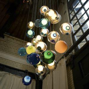LEDペンダントライト 照明器具 リビング照明 ダイニング照明 吹き抜け照明 店舗照明 カラフル オシャレ LED対応 1/3/5/7/10/14/16/25灯