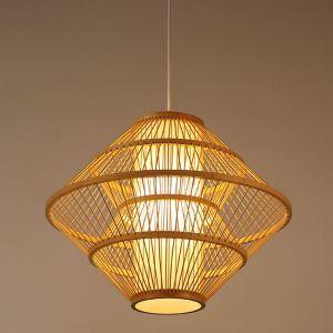 ペンダントライト 照明器具 リビング照明 店舗照明 ダイニング照明 茶室 寝室 和室和風 竹木 1灯 D0018