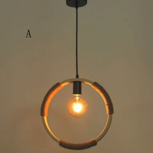 ペンダントライト 照明器具 リビング照明 店舗照明 ダイニング照明 玄関 寝室 和室和風 竹木 1灯 輪型 DA/DB