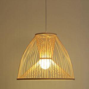 ペンダントライト 照明器具 リビング照明 店舗照明 ダイニング照明 玄関 寝室 和室和風 竹木 1灯 D369