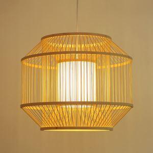 ペンダントライト 照明器具 リビング照明 店舗照明 ダイニング照明 玄関 寝室 和室和風 竹木 1灯 D112B