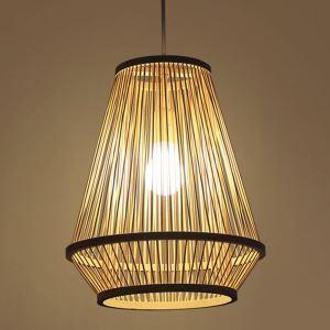 ペンダントライト 照明器具 リビング照明 店舗照明 ダイニング照明 玄関 寝室 和室和風 竹木 1灯
