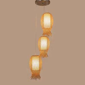ペンダントライト 照明器具 リビング照明 店舗照明 ダイニング照明 玄関 寝室 和室和風 竹木 1灯/3灯 クラゲ型 M14