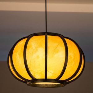 ペンダントライト 照明器具 リビング照明 店舗照明 ダイニング照明 玄関 寝室 和室和風 竹木 1灯 提灯型 GYD0087