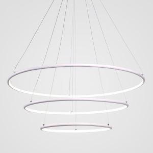 LEDペンダントライト 照明器具 リビング照明 ダイニング照明 店舗照明 三環 白色 オシャレ LED対応 80+60+40cm LBY18022