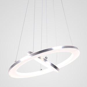 LEDペンダントライト 照明器具 リビング照明 店舗照明 二環 エンゼル環 LED対応 40+20cm LBY18023
