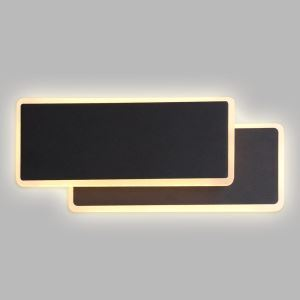 LED壁掛け照明 ブラケットライト ウォールランプ 玄関照明 間接照明 照明器具 黒色 2層 回転可能 LED対応 LBY18047