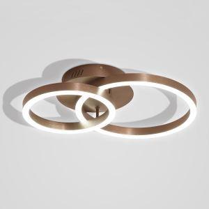 LEDシーリングライト 照明器具 リビング照明 寝室照明 天井照明 オシャレ 北欧風 2輪 珈琲色 LED対応 LBY18055