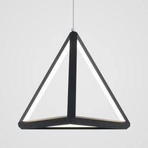 LEDペンダントライト 照明器具 リビング照明 ダイニング照明 店舗照明 オシャレ 北欧風 三角形 黒色 LED対応 LBY18068