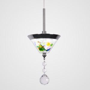 LEDペンダントライト 照明器具 子供屋照明 玄関照明 ダイニング照明 円錐状 ガラス オシャレ 北欧風 LED対応 LBY18048