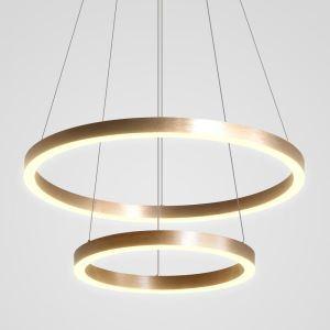 LEDペンダントライト 照明器具 リビング照明 店舗照明 ダイニング照明 オシャレ 北欧風 2輪 銅色 LED対応 LBY18059