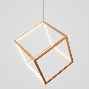 LEDペンダントライト 照明器具 リビング照明 ダイニング照明 店舗照明 オシャレ 北欧風 立方体 金色 LED対応 LBY18070