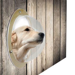 ペット用品 窓 透明 アクリルドーム 覗き窓 犬猫 飾り物 犬の小部屋の窓