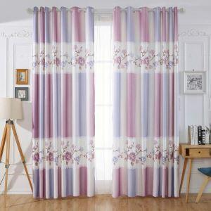遮光カーテン オーダーカーテン 子供屋 オシャレ 花柄 捺染 3級遮熱カーテン(1枚)