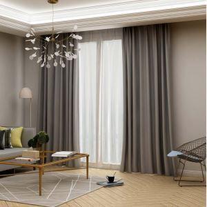 高遮光カーテン オーダーカーテン 寝室用 灰色 オシャレ 高精密 断熱 1級遮光カーテン(1枚)