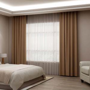 高遮光カーテン オーダーカーテン 寝室用 珈琲色 オシャレ 高精密 断熱 1級遮光カーテン(1枚)