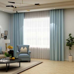 高遮光カーテン オーダーカーテン 寝室用 空色 オシャレ 高精密 断熱 1級遮光カーテン(1枚)