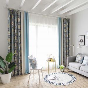 遮光カーテン オーダーカーテン 北欧風 捺染 枝柄 3級遮熱カーテン(1枚) SL1