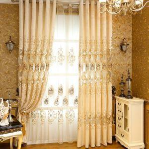 遮光カーテン オーダーカーテン オシャレ 刺繍 シェニール 3級遮熱カーテン(1枚) TY999