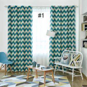 遮光カーテン オーダーカーテン オシャレ 捺染 波柄 3級遮熱カーテン(1枚) 3色