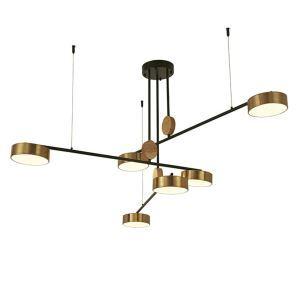 LEDシャンデリア 照明器具 リビング照明 ダイニング照明 店舗照明 天井照明 北欧風 3色 6灯 LED対応 QM18096