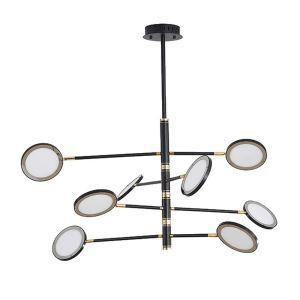 LEDシャンデリア リビング照明 寝室照明 黒色 北欧風 4/6/8灯 LED対応