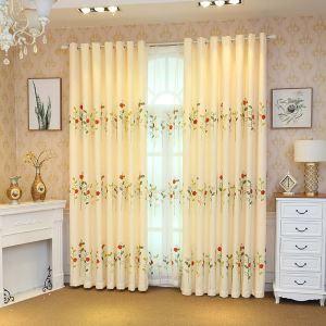 遮光カーテン オーダーカーテン 子供屋 ナナホシテントウムシ柄 刺繍 オシャレ 3級遮熱カーテン(1枚)
